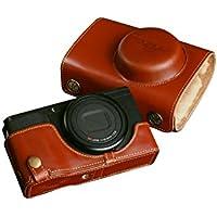 TP RICOH リコー GR / GR II (GR2)用本革レンズカバー付カメラケース(電池,SDカード交換可) ブラウン