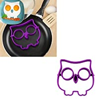 VoberryテつョNovelty Cute Egg Owl Shaper Silicone Moulds Cooking Tools Christmas Supplies Kitchen Tools by Voberry
