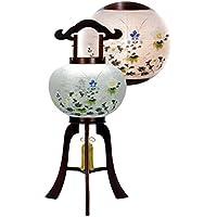 盆提灯 10号 置き型 美吉野 絹二重 高さ70cm 電気コード式 日本製 行灯 盆提灯 八女提灯
