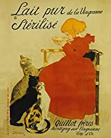 Lait Pur Poster by Thテδゥophile Alexandre Steinlen 16 x 20in by EuroGraphics