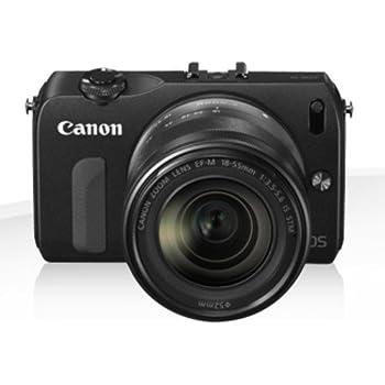 Canon ミラーレス一眼カメラ EOS M ダブルレンズキット EF-M18-55mm F3.5-5.6 IS STM/EF-M22mm F2 STM付属 ブラック EOSMBK-WLK