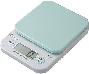 タニタ はかり スケール 料理 2kg 1g デジタル グリーン KF-200 GR