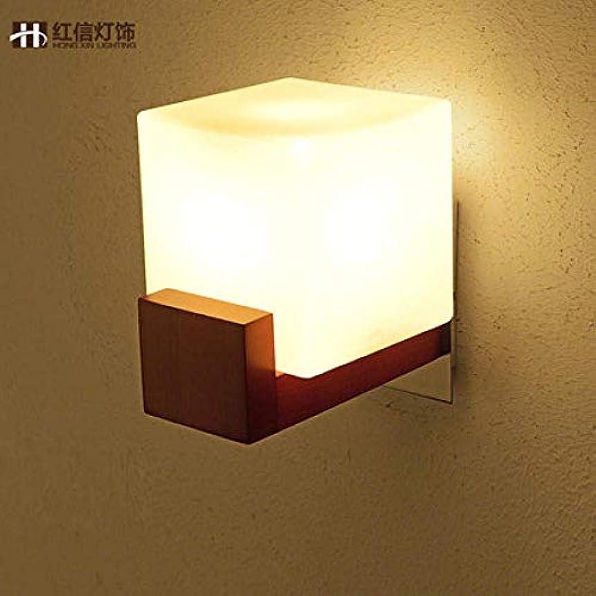 注釈フレット構築する壁取り付け用燭台 ソリッドウッドウォールランプベッドルームベッドサイドランプアイル回廊階段リビングルームの壁ランプ、シングルヘッドLED電球を温めます