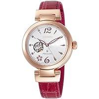 [ルキア]LUKIA 腕時計 ルキア SAKURA(サクラ) Blooming限定800本 メカニカル スワロフスキー文字盤 クロコダイルバンド SSVM042 レディース