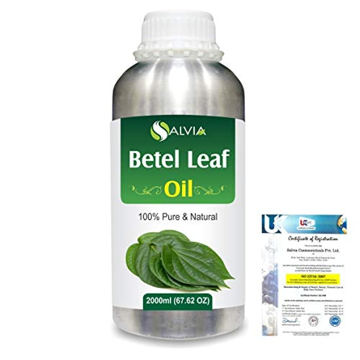 自信がある環境に優しい起こりやすいBetel Leaf (Piper Betle) 100% Natural Pure Essential Oil 2000ml/67 fl.oz.