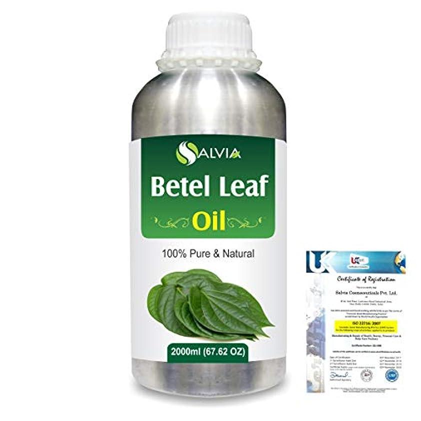 手のひら郡ダメージBetel Leaf (Piper Betle) 100% Natural Pure Essential Oil 2000ml/67 fl.oz.