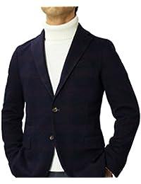 【アウトレット品】 イレブンティ チェック柄 ウールコットン ジャカードジャージー 2B シングル ジャケット [並行輸入品]