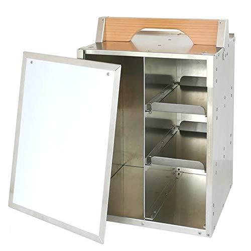 運べるデスク♪ オカモチ型アルミ収納ケース「机上空間 オカモッティ」ホワイトボードのフロントドアを持つWBタイプ 持ち運び自由!