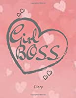 GIRL BOSS: Weekly Planner, Diary , Week to View. Write in your own dates, schedules, to do lists. Unique interior. Lovely Present gift for Loved one