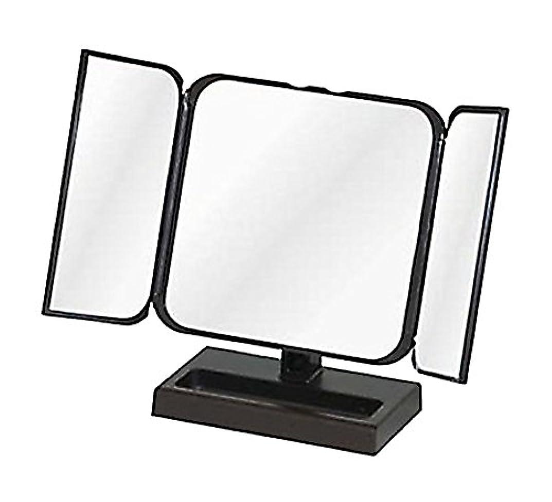 ダイエットマーチャンダイザー意図的メリー プチ三面鏡 ブラック No.CH-8720