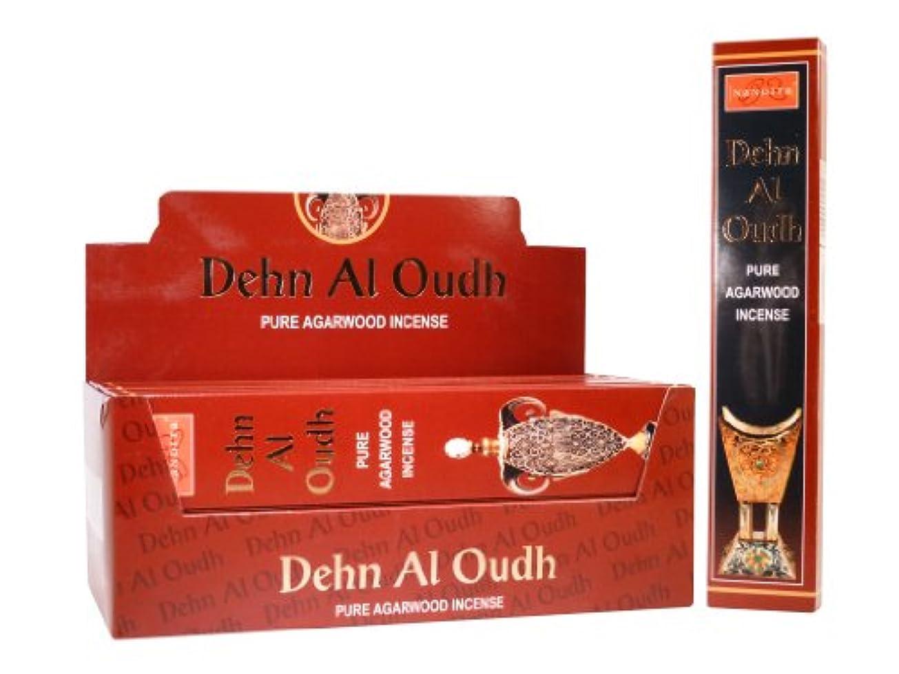 十分に神経醸造所Nandita Dehn Al Oudh Pure Agarwood Incense Sticks – 15 Gボックス レッド