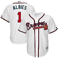 Majestic Majestic Ozzie Albies Atlanta Braves White Home Cool Base Player Jersey スポーツ用品 【並行輸入品】