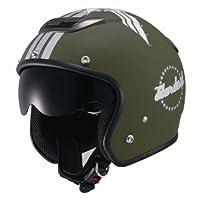 ナンカイ(NANKAI) ZEUS スターダスト ジェットヘルメット(インナーバイザー装備) マットグリーン フリー NAZ202MTGR