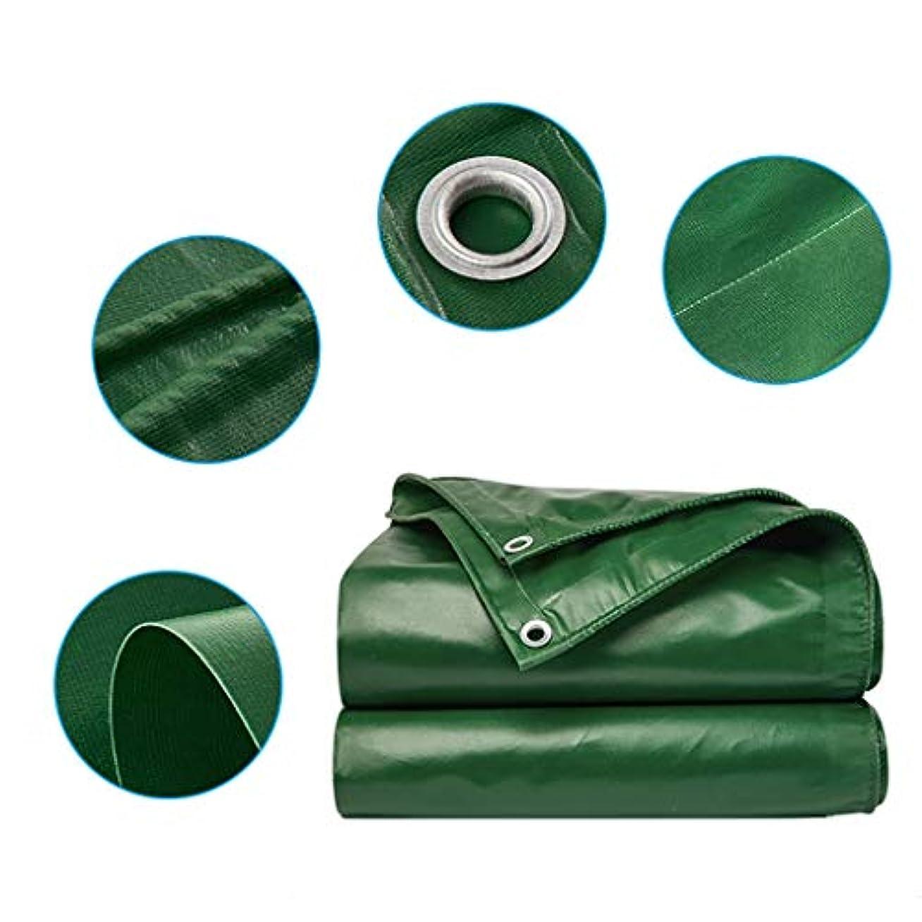 農村傘静かにタープ グロメットと強化された端、16ミルの厚い多目的防水シートカバーで防水大型防水シート6m×10mの頑丈なキャンバスタープ テント (Color : Green, Size : 6m × 10m)