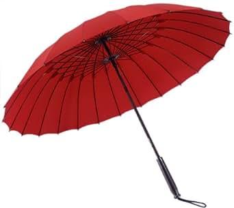 和傘 24本骨傘 蛇の目風 和傘 番傘 赤
