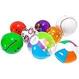 10ピース インフレータブル ビーチボール ビーチおもちゃ 高弾性 ダイビング玩具 カラーボール 屋外/ビーチ/プール/パーティー 子供 大人 夏の定番