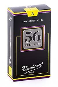 バンドーレン B♭クラリネットリード ルピック56 硬さ:3 (10枚入)