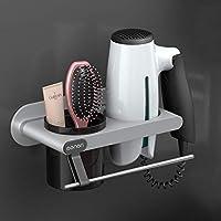 シルフィクル 壁掛け式ヘアドライヤーラックフリーパンチ浴室用収納ラック シルフィクル (Color : Gray)