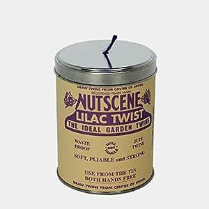 イギリス/Nutscene ナッツシーン 缶入り麻ひも ティン・オー・トワイン/150m ライラック