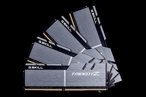 G.Skill DDR4-3200 TridentZシリーズ F4-3200C16Q-32GTZSK 32GB(8GB×4), シルバー+ブラック