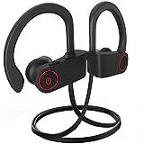 Bluetooth Headphones, Bluetooth Earbuds Best Wireless Sports Earphones w/Mic IPX7 Waterproof Stereo Sweatproof Earbuds for Gym Running Workout 8 Hour Battery Noise Cancelling Headsets DDU8005