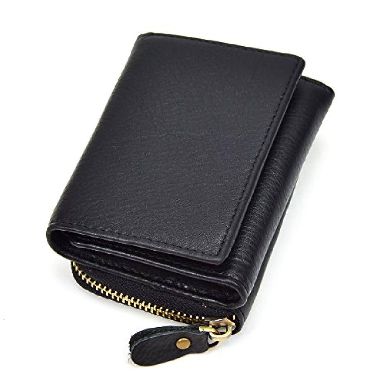 入場料剃る形式本革 財布 男女兼用 レザー 小銭入れ コインケース 短財布 二つ折り財布 カード入れ 写真入れ