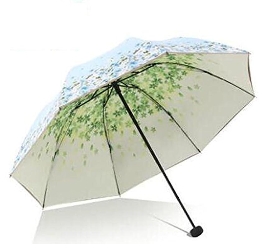 ランデブー間違えた集中パラダイスの傘33447E夢の花の海ビニールダブル日紫外線保護ダブルサン傘の傘