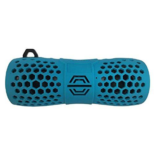 Owltech/オウルテック 重低音Bluetoothスピーカー 防水スピーカー マイク機能搭載 カラビナ付 ライトブルー OWL-BTSPWP02-LB