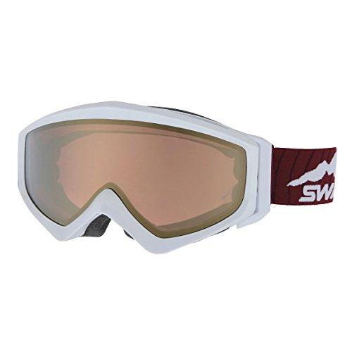 SWANS(スワンズ)スノーゴーグル ヘルメット対応 メガネ装着対応 ミラー加工偏光レンズ GUEST-MPDH PAWパールホワイト F