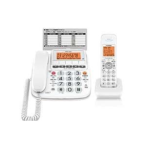 Pioneer デジタルコードレス電話機 子機1台付き 1.9GHz DECT準拠方式 TF-SE10S-W