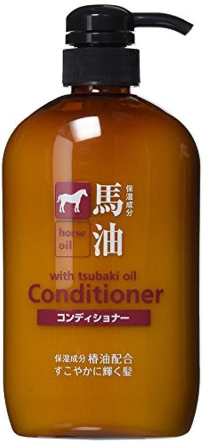 ぶら下がる取り替える中性熊野油脂 馬油コンディショナー 600ml