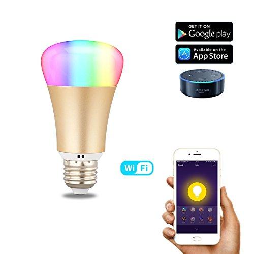 Diggro SM-B-1 スマート電球 Alexa対応 調色可能 1600万色(白色+ RGB) WIFI リモコンコントロール タイマー設定 省エネ LED電球 グループ化制御 雰囲気作り 気分転換 E26 IOS Android対応