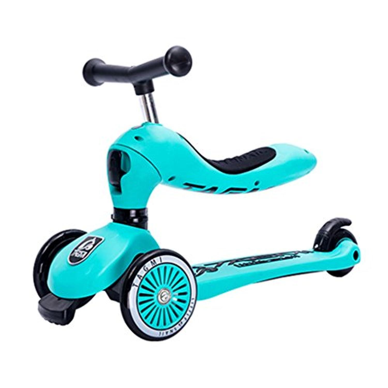 スクーター子供たち多機能ベビーウォーカー四輪折りたたみはおもちゃを座らせることができますヨーヨー車のフラッシュホイール3-12歳