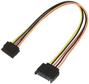 変換名人 SATA電源(15ピン)延長ケーブル 30cm SPR/CA30