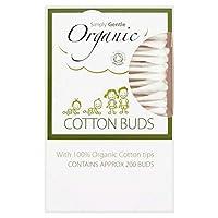 [Simply Gentle ] 単に優しいオーガニックコットンつぼみパックあたり200 - Simply Gentle Organic Cotton Buds 200 per pack [並行輸入品]
