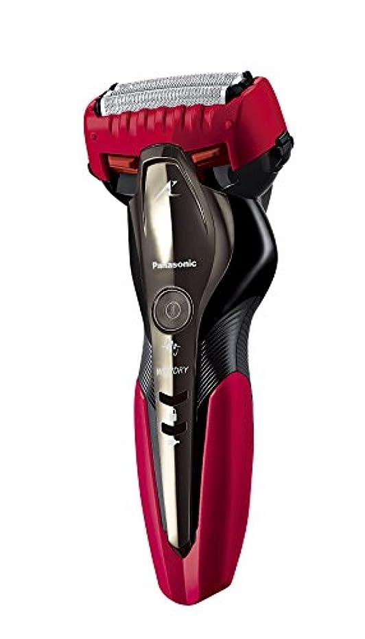 体操選手天のスーパーパナソニック ラムダッシュ メンズシェーバー 3枚刃 お風呂剃り可 赤 ES-ST2P-R