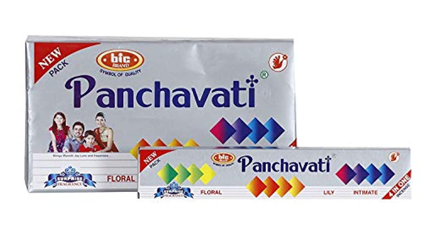 粗い卒業記念アルバム水BIC Panchavati 4 in 1 Incense Sticks/Agarbatti (Pack of 2 Dozens)
