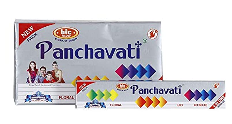 振る舞うブランデー望まないBIC Panchavati 4 in 1 Incense Sticks/Agarbatti (Pack of 2 Dozens)