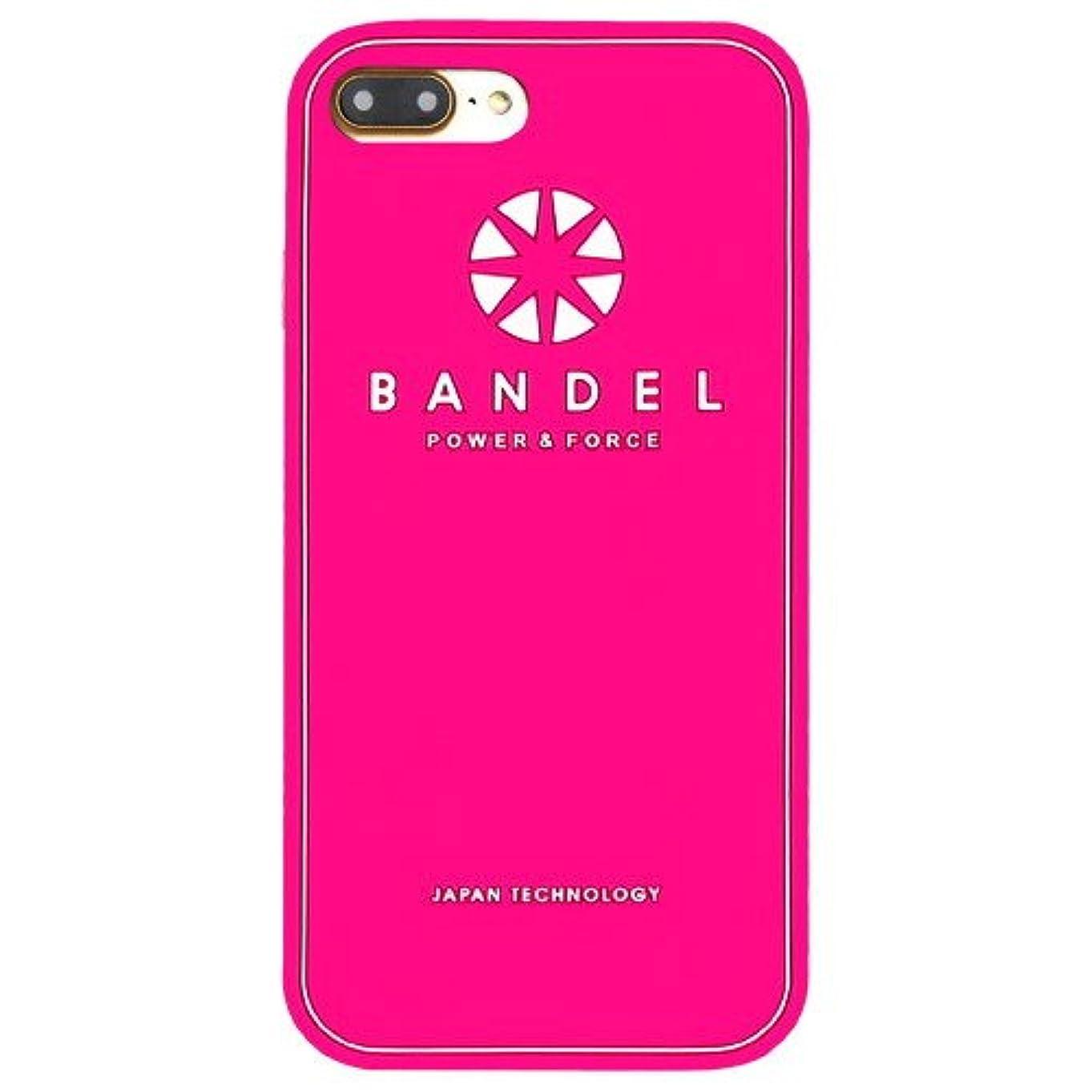 ファンド性差別エンドウバンデル(BANDEL) ロゴ iPhone 7 Plus専用 シリコンケース [ピンク]