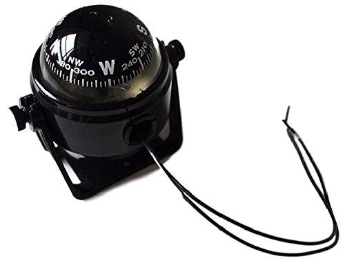 マリンコンパス 12V ライト 付 方位 磁石 ボート 船 (ブラック )