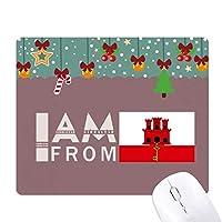 ジブラルタルから来ました ゲーム用スライドゴムのマウスパッドクリスマス