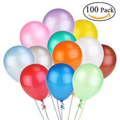 NUOLUX 100個セット あんしん極厚風船 誕生日 バースデーパーティー アニバーサリー などに 結婚式 飾り 装飾