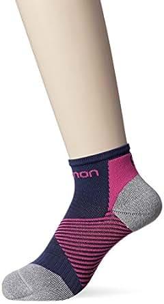 [サロモン] Speed Support Socks Speed Support Socks Speed Support Medieval Blue/Pink Yarrow EU L (日本サイズL相当)