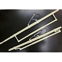 長尺帯掛付伸縮和装着物ハンガー2本組 小さく折畳みOK