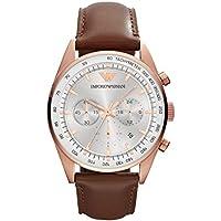 Emporio Armani Men's AR5995 Sport Brown Leather Watch