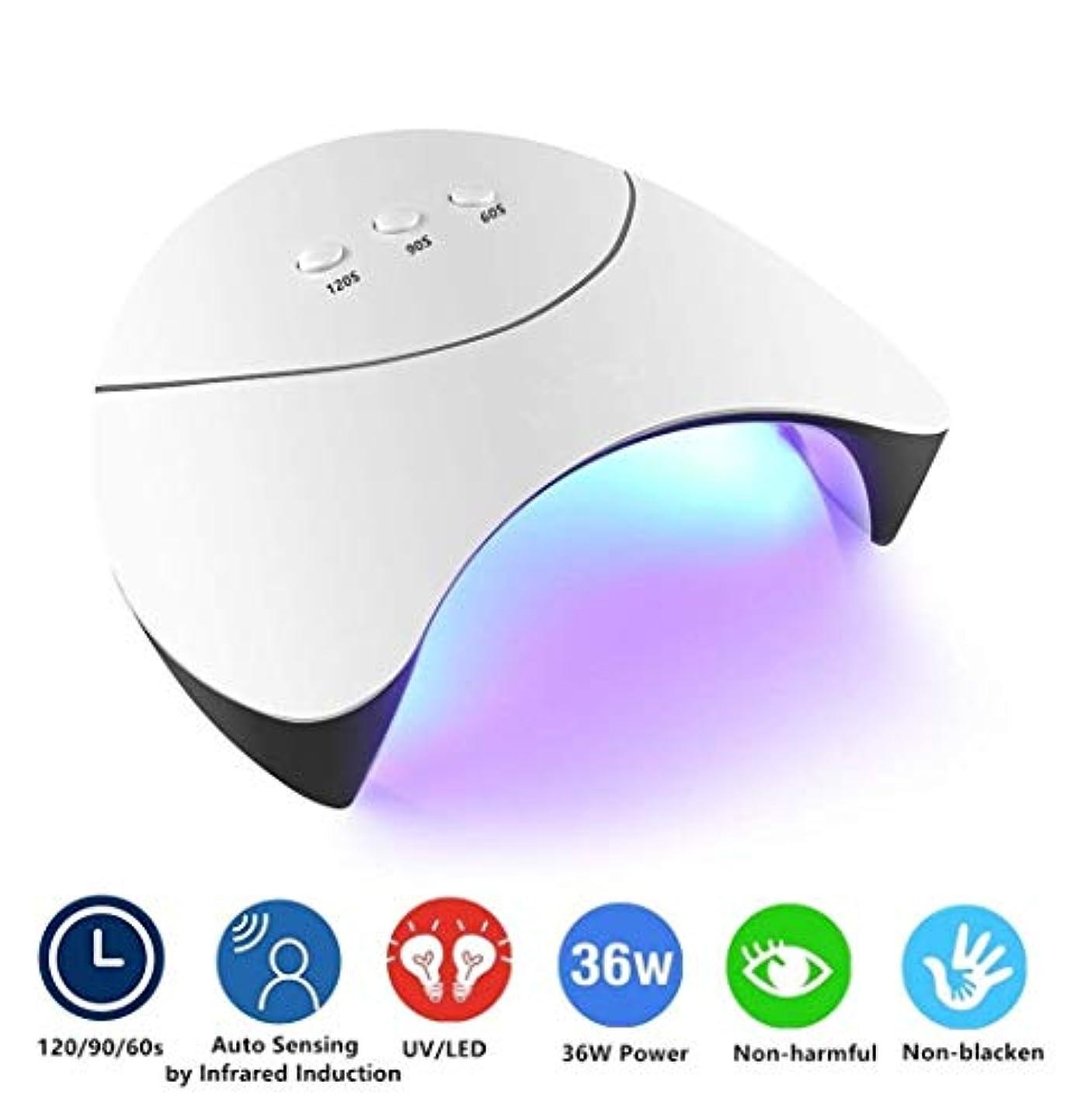 ブランデーカートリッジ象UV LEDネイルドライヤーランプ、爪の爪の硬化ライト、自動センサー付き、4タイマー設定、LCDディスプレイ、女の子用ギフトツール