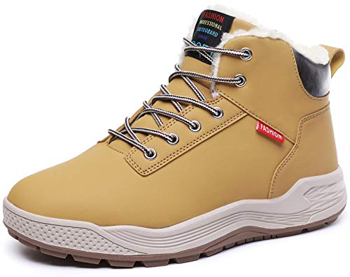 Sixspace スノーブーツ メンズ 防水 アウトドアシューズ 防寒靴 スノーシューズ 防滑 ウィンターブーツ 冬雪靴 カーキ 25.5cm