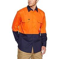 BISLEY WORKWEAR Men's BS6895_TT01 Two Tone HI VIS Cool Lightweight Drill Shirt - Long Sleeve Assorted 2