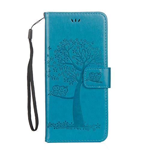 ZeeboxR Galaxy S6 Edge ケース, 高級感 人気 PUレザー ツリーエンボス加工 財布型 ケース, スタンド機能 カード収納 マグネット開閉式 落下防止 衝撃吸収 ウォレッ カバー Galaxy S6 Edge 用 Case Cover