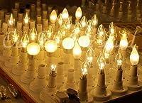 シャンデリアLED【プロ用】【調光/10個】  抜群の色味 透明フルカバー ハイパワー4W E17 電球色